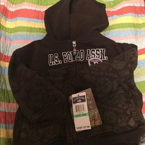 Polo Infant boys 18M Brown  jacket/hoodie NWT